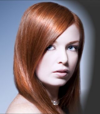 Red Hair Sleek Hairstyle
